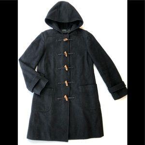 J Crew toggle wool blend peacoat hooded jacket XS